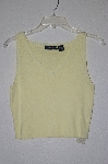 "MBADG #31-265  ""Jaime Scott Light Yellow Knit Short Tank"""