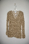 "MBADG #31-364  ""Newport News Fancy Gold Crochet Cardigan"""