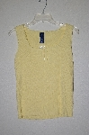 "MBADG #31-336   ""Basic Edition Fancy Yellow Knit Tank"""