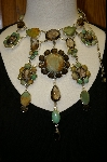 **The Mother Load Of Green Turquoise & Smokey Quartz Necklace