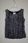 "MBADG #31-442  ""Coldwater Creek Fancy Blue Animal Print Tank"""