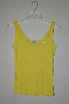 "MBADG #31-374  ""Q&A Fancy Yellow Knit One Of A Kind Tank"""