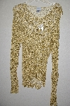 "MBADG #31-379  ""Together Fancy Gold Crochet Top With Sequins"""