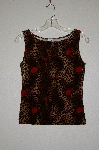 "MBADG #31-385  ""Timing USA Fancy Rose & Animal Print Velvet Tank"""