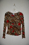 "MBADG #31-388  ""Diamond's USA Fancy Animal & Rose Print Stretch Top"""