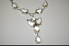 "**MBA #7519   MBA #7519  ""Big Beautiful Clear Crystal Quartz Sterling Necklace"
