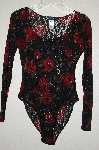 "MBADG #31-474  ""Susan Lucci Fancy Black Lace & Rose Body Suit"""