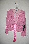"**MBADG #31-445  ""Together Fancy Embelished Pink Silk Tie Bottom Jacket"""
