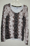 "MBADG #31-494  ""Pamela McCoy Fancy Python Scoop Neck Sweater"""