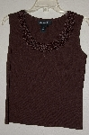 "MBADG #31-499  ""J.A.C. Brown Knit Tank With Crochet Neckline"""