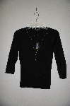 "MBADG #31-507  ""August Silk Fancy Black Gromet Trim Sweater"""