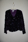 "MBADG #31-532  ""Coldwater Creek One Of A Kind Purple Velvet Hand Beaded Jacket"""