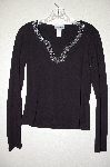 "MBADG #3-020  ""Body Central Black Bead Embelished Sweater"""