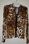 "MBADG #3-027  ""Fontana Fancy Animal Print Embelished Cardigan"""