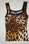"MBADG #3-032  ""Fontana Fancy Animal Print Embelished Tank"""