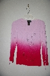 "MBADG #3-009  ""Carina Fancy Tow-Tone Pink Bead Embelished Sweater"""