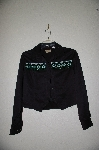 "+MBADG #3-106  ""Wrangler Western Style Black Fancy Beaded Top"""