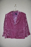"**MBADG #3-090  ""Boston Proper Mauve Fancy Velvet Jacket"""