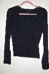 "MBADG #28-530  ""Venini Black Knit Crochet Trim Sweater"""