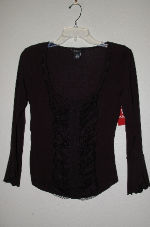 "MBADG #28-561  ""Guess Jeans Fancy Black Stretch Top"""