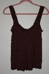 "MBADG #28-468  ""Coolwear Fancy Brown Stretch Tank"""