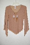 "MBADG #28-457  ""2B Clothing Fancy Tan Suede Look Top"""