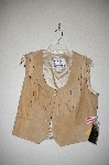 "MBADG #28-491  ""Pioneer Wear Wheat Suede Button Front Vest"""