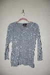 "MBADG #26-051  ""Bradley By Bardley bayou Silver Silk/Cashmere Blend Sweater"""