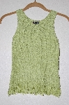 "MBADG #26-060  ""Q Point Lime Green Fancy Knit Tank"""