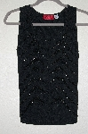 "MBADG #26-014  ""Carina Black Knit Hand Beaded Knit Tank"""