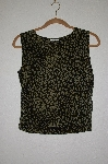 "MBADG #26-018  ""The Travel Collection Green Animal Print Stretch Tank"""