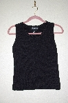 "MBADG #26-021  ""J.A.C. Black Knit Tank With Crochet Trim Neckline"""