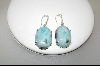 +MBA #7687  Oval Larimar Sterling Pierced Earrings