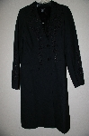 "**MBADG #26-108  ""Karen Kane Fancy Black Ribbon & Bead Embelished Long Coat"""