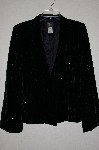 "**MBADG #26-136  ""Susan Bristol Fancy Black Velvet Beaded Jacket"""