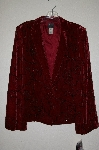 "**MBADG #26-147  ""Susan Bristol Fancy Red Velvet Beaded Jacket"""