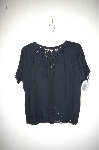 "MBADG #26-097  ""Jane Ashley Fancy Black Rayon Embroidered Blouse"""