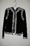 "**MBADG #11-140  ""Victor Costa Black Velvet Embelished Dinner Jacket"""