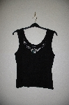 "MBADG #11-145  ""Karen Kane Black Knit Jeweled Tank"""
