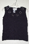 "MBADG #11-153  ""Joseph A Black Heart Cut Out Knit Tank"""