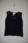 "MBADG #11-153A  ""Joseph A Black Heart Cut Out Knit Tank"""