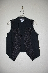 "**MBADG #11-124  ""Banjo Fancy Black Lace Trim Vest Shirt"""