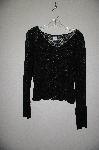 "**MBADG #11-129  ""Boston Proper Black Floral Lace Stretch Top"""