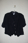 "+MBADG #11-079  ""Roughrider Glossy Black Button Front Western Shirt"""
