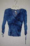 "**MBADG #11-043  ""Styles Blue Stretch Top"""