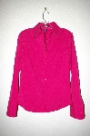 "**MBADG #11-098  ""Express Stitch Womens Dark Pink Button Front Blouse"""
