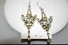 +MBA #7662  Golden Topaz Dangle Pierced Earrings