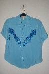 "MBADG #55-189  ""New Frontier One Of A Kind Hand Beaded Western Shirt"""