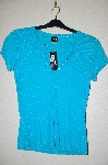 "MBADG #55-197  ""I.N.C Blue Button Front Stretch Top"""