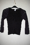 "MBADG #55-201  ""XOXO Fancy Black Lace Sleve Knit Sweater"""